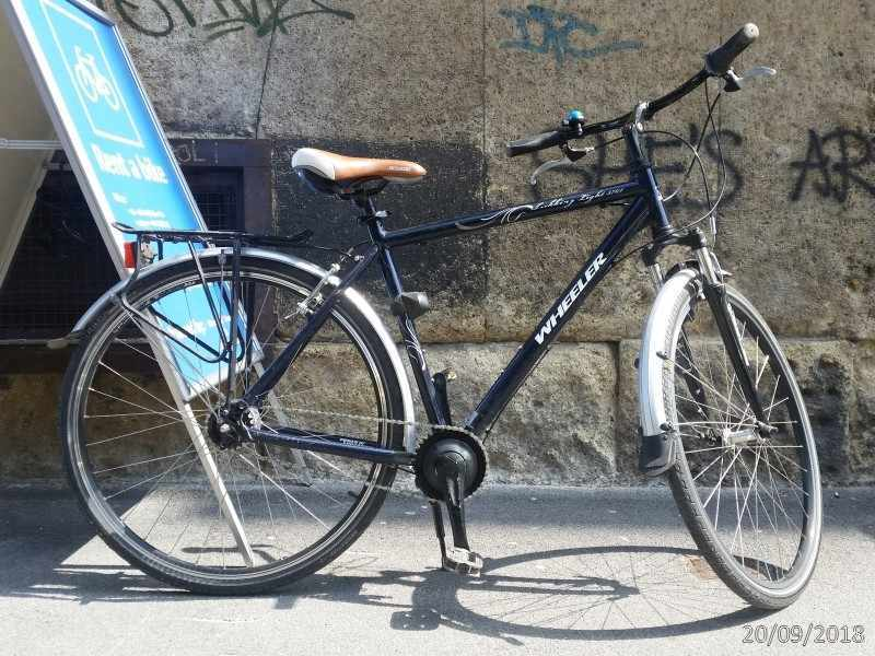 Wheeler Trekking Light 3701, city or tour bicycle, male frame size 23 inches or 58cm; colour: blue
