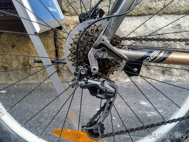 Rear derailleur on Scott Aspect 35