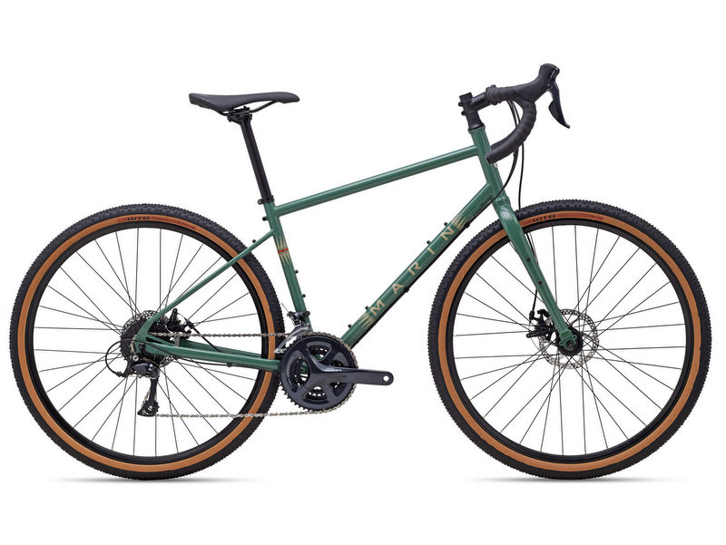 Marin Four Corners, adventure / gravel bicycle, frame sizes XS - XL; colour: Gloss Green