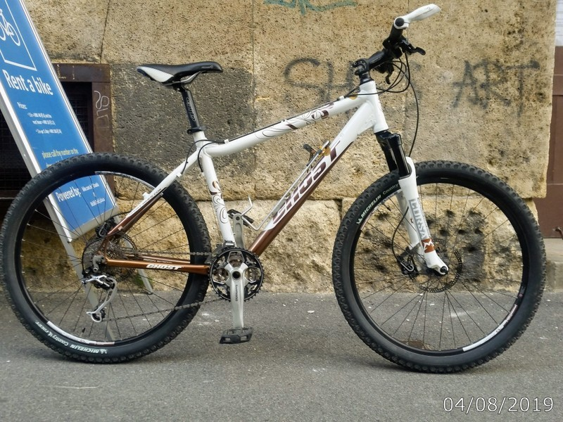 Ghost S, mtb male frame, frame size S; colour: white / bronze